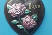 7. Сердце с розами (15см)